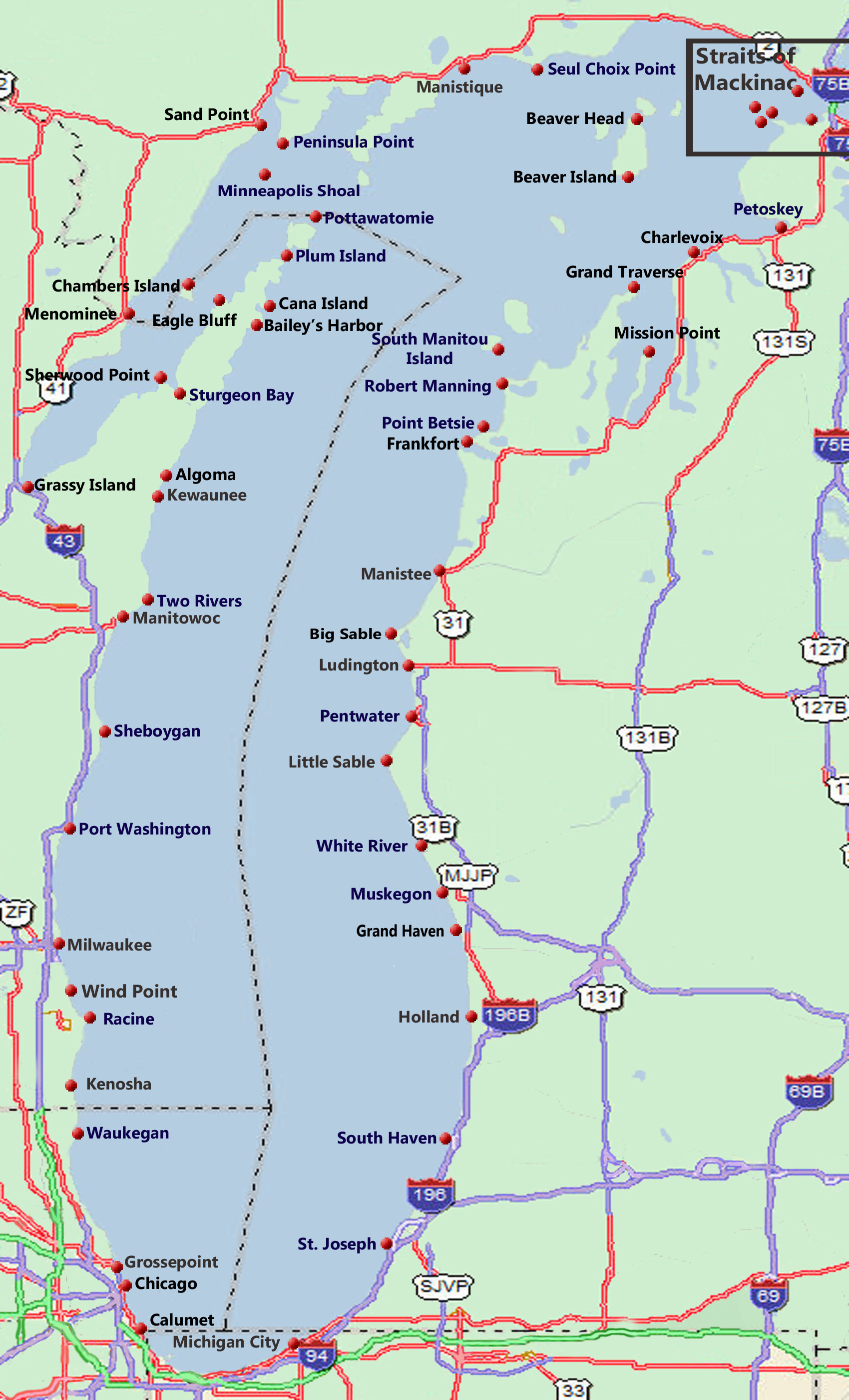 Related Keywords Amp Suggestions For Lake Michigan Map